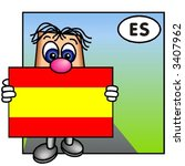 funny guy showing the flag of... | Shutterstock .eps vector #3407962