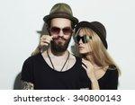 Beautiful Happy Couple In Hat...
