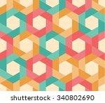 seamless pattern of geometric... | Shutterstock .eps vector #340802690