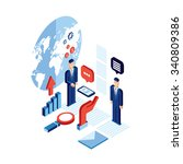 businessman isometric people... | Shutterstock .eps vector #340809386