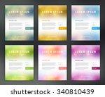 vector flyer templates... | Shutterstock .eps vector #340810439