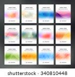 vector flyer templates... | Shutterstock .eps vector #340810448