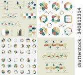 super big set 5  infographic... | Shutterstock .eps vector #340812314