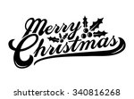 merry christmas text font... | Shutterstock .eps vector #340816268