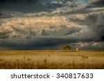Storm clouds over West Texas - stock photo