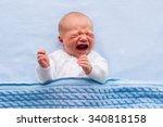 Newborn Crying Baby Boy. New...
