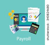 payroll salary accounting... | Shutterstock .eps vector #340824680