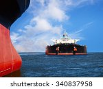 two ships in the sea on a... | Shutterstock . vector #340837958
