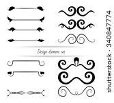 set of vector design elements ...   Shutterstock .eps vector #340847774