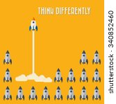 think differently   being... | Shutterstock .eps vector #340852460