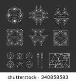 set of geometric shapes. trendy ...   Shutterstock .eps vector #340858583
