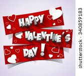 happy valentine's day greeting... | Shutterstock .eps vector #340859183