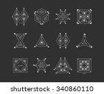 set of geometric shapes. trendy ... | Shutterstock .eps vector #340860110
