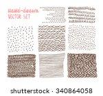 set of hand drawn textures   Shutterstock .eps vector #340864058