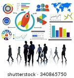 new business chart innovation...   Shutterstock . vector #340865750