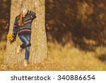 outdoor full length colorful... | Shutterstock . vector #340886654