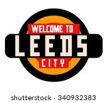 leeds in england is beautiful... | Shutterstock .eps vector #340932383