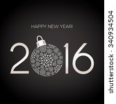 new year's card   2016 | Shutterstock .eps vector #340934504