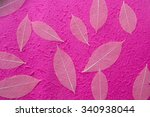 leaves on mulberry paper... | Shutterstock . vector #340938044