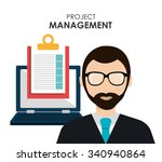 project management and business ... | Shutterstock .eps vector #340940864