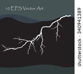 vector lightning | Shutterstock .eps vector #340941389