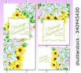 vintage delicate invitation... | Shutterstock .eps vector #340945430