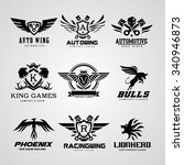 logo collection set automotive... | Shutterstock .eps vector #340946873