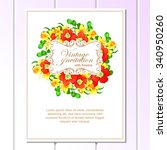 invitation with floral... | Shutterstock .eps vector #340950260