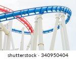 roller coaster rail ride in the ... | Shutterstock . vector #340950404