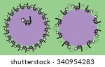 round frame for the text with a ...   Shutterstock .eps vector #340954283