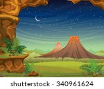 prehistoric illustration with... | Shutterstock .eps vector #340961624
