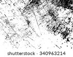 grunge black and white distress ... | Shutterstock . vector #340963214