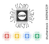 vector chip icon  isolated...