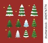 christmas tree | Shutterstock .eps vector #340976774