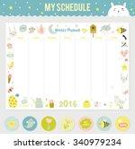 cute calendar weekly planner...