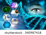 medical science and scientific... | Shutterstock . vector #340987418