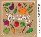 cartoon vegetables set. | Shutterstock . vector #340987859