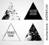 vector grunge triangle shapes . ... | Shutterstock .eps vector #340989134