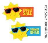 summer sale and summer offer... | Shutterstock .eps vector #340991528