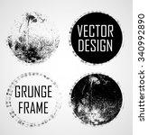 grunge rubber texture stamp .... | Shutterstock .eps vector #340992890