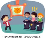 stickman illustration of kids... | Shutterstock .eps vector #340999016