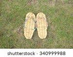 straw sandals | Shutterstock . vector #340999988