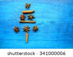 christmas tree made from... | Shutterstock . vector #341000006