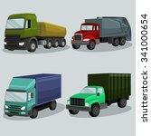 industrial freight vehicles... | Shutterstock .eps vector #341000654