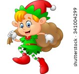 little kid with gnome costume | Shutterstock . vector #341004299