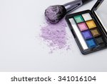 makeup products on white... | Shutterstock . vector #341016104