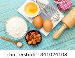 baking cupcake with ingredients ... | Shutterstock . vector #341024108