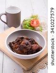 chicken stew with fresh tomato... | Shutterstock . vector #341027579