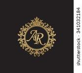 ar initial luxury ornament... | Shutterstock .eps vector #341032184