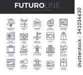 modern thin line icons set of... | Shutterstock .eps vector #341036630